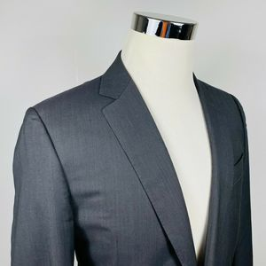 Canali 1934 40L Sport Coat 100% Wool Gray Striped